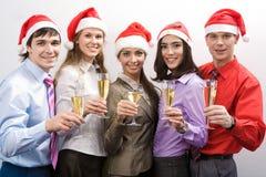 商业圣诞老人 免版税库存照片
