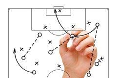 Στρατηγική παιχνιδιών προπονητών ποδοσφαίρου Στοκ εικόνα με δικαίωμα ελεύθερης χρήσης