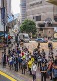 香港方形时间 库存图片