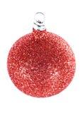 红色圣诞节的装饰 免版税图库摄影