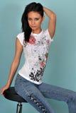 美丽的女性模型年轻人 免版税库存图片