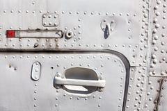 老白色被绘的飞机机身 免版税库存图片