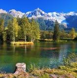 Холодное озеро Стоковые Изображения RF