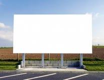 κενό λευκό σημαδιών Στοκ εικόνα με δικαίωμα ελεύθερης χρήσης