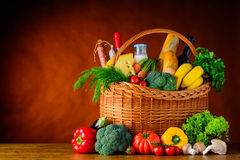Υγιή τρόφιμα με το διάστημα αντιγράφων Στοκ φωτογραφίες με δικαίωμα ελεύθερης χρήσης