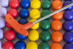 Πορτοκαλιές γκολφ κλαμπ και σφαίρες Στοκ φωτογραφία με δικαίωμα ελεύθερης χρήσης