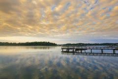 日落的南卡罗来纳 免版税库存照片