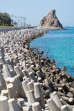Έλεγχος διάβρωσης με τους τσιμεντένιους ογκόλιθους Στοκ φωτογραφία με δικαίωμα ελεύθερης χρήσης