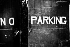 禁止停车没有字距调整 免版税库存照片