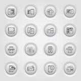 Κινητά εικονίδια συσκευών και υπηρεσιών καθορισμένα Στοκ εικόνες με δικαίωμα ελεύθερης χρήσης