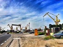 大宇曼加利亚造船厂 免版税库存图片
