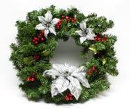 圣诞节节假日冬天花圈 库存照片
