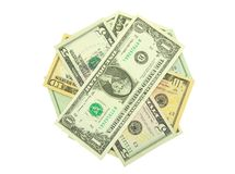 发单美元 库存图片