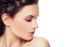красивейшая женщина портрета утра красотки Молодая сторона, совершенная кожа Стоковые Фотографии RF