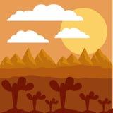 沙漠风景设计 库存图片