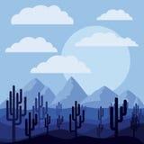 Дизайн ландшафта пустыни Стоковое фото RF