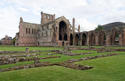 玫瑰花修道院,苏格兰 免版税库存照片