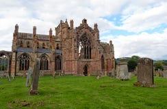 玫瑰花修道院,苏格兰 库存照片