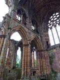 玫瑰花修道院,苏格兰 免版税库存图片