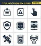 象设置了云彩数据技术服务的优质质量,全球性连接 免版税库存照片