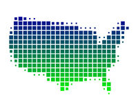 ο χάρτης της Αμερικής δηλώνει ενωμένο Στοκ Εικόνες