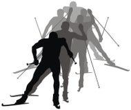катание на лыжах Стоковое Изображение