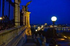 布达佩斯夜生活 库存照片