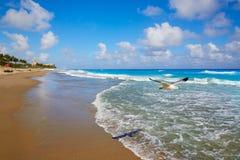 棕榈滩海滩海岸线佛罗里达美国 库存照片