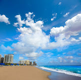 歌手在棕榈滩佛罗里达美国的海岛海滩 库存照片
