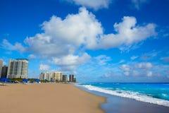 歌手在棕榈滩佛罗里达美国的海岛海滩 库存图片