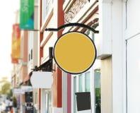 Σύστημα σηματοδότησης του υποβάθρου στην αρχιτεκτονική και το εσωτερικό Στοκ Εικόνα