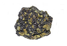 块集岩斑铜矿 免版税库存照片
