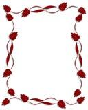 граница выходит орнаментальный красный цвет Стоковая Фотография RF