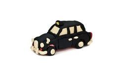 Автомобиль такси пластилина изолированный на белой предпосылке Стоковые Фотографии RF