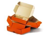Оранжевые коробки пакета Стоковые Изображения RF
