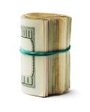 Свернутый вверх по счетам доллара США Стоковые Фото