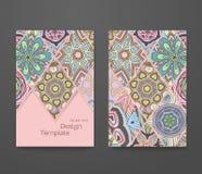 Красочный орнаментальный этнический комплект буклета Стоковые Изображения