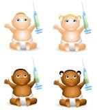 шприц удерживания младенца Стоковые Изображения RF