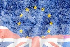 Флаг Великобритании и Европейского союза Стоковая Фотография RF