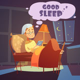 Хорошая иллюстрация сна Стоковые Изображения