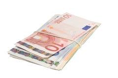 票据束起欧元 库存图片