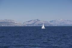 蓝色亚得里亚海,克罗地亚 图库摄影
