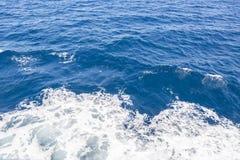 Μπλε αδριατική θάλασσα, Κροατία Στοκ φωτογραφίες με δικαίωμα ελεύθερης χρήσης