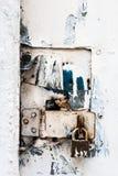 锁蓝色 库存图片