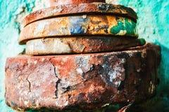 结块的混杂的金属种族 免版税图库摄影