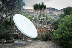 盘例证查出的卫星向量白色 免版税图库摄影