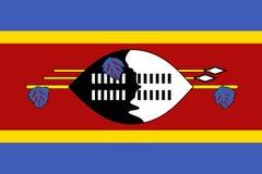 σημαία Σουαζηλάνδη Στοκ Φωτογραφίες