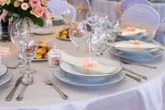 Комплект таблицы свадьбы Стоковые Изображения