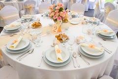 Комплект таблицы свадьбы Стоковое Фото