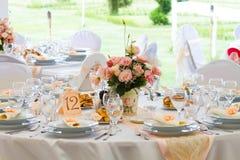 Комплект таблицы свадьбы Стоковые Фото